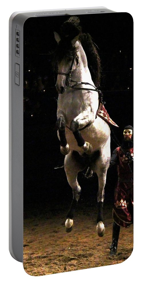 Animal Portable Battery Charger featuring the photograph Leap Of Faith by Davandra Cribbie