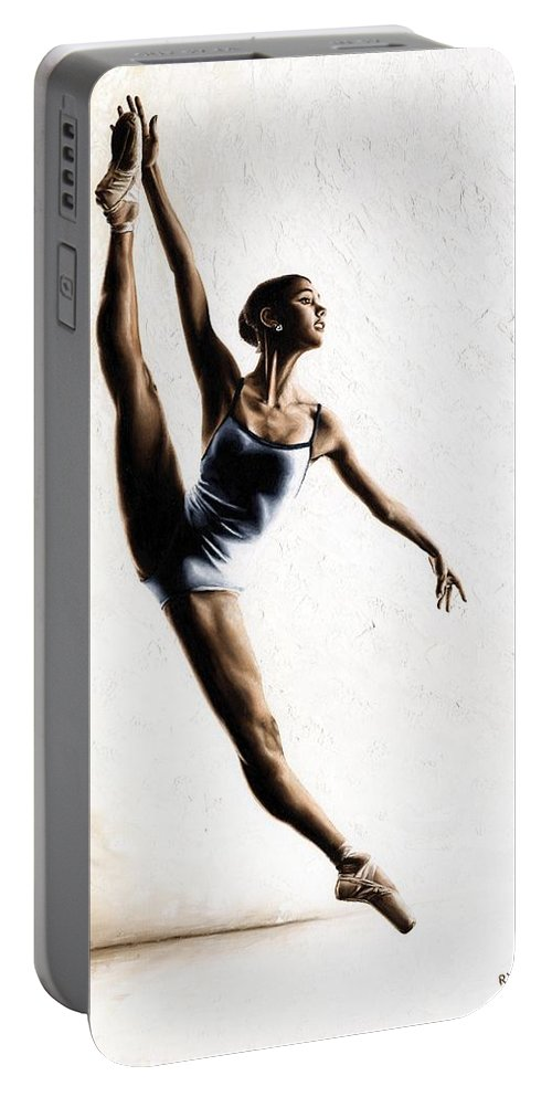 Dance Portable Battery Charger featuring the painting Leap of Faith by Richard Young