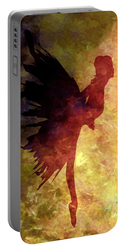 Ballet Portable Battery Charger featuring the mixed media Learning The Steps 5 by Angelina Tamez