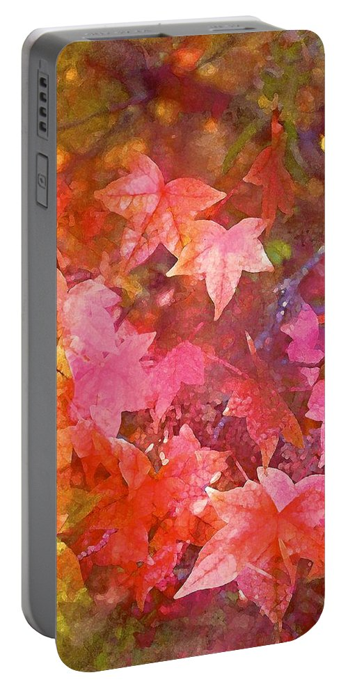 Tree Portable Battery Charger featuring the photograph Leaves 6 by Pamela Cooper
