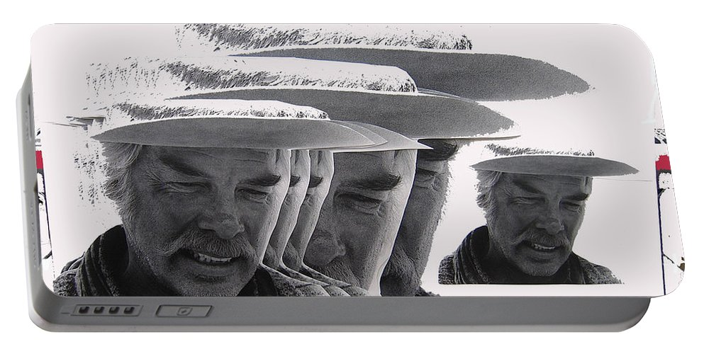 Lee Marvin Monte Walsh #2 Old Tucson Arizona 1969-2012  Portable Battery Charger featuring the photograph Lee Marvin Monte Walsh #2 Old Tucson Arizona 1969-2012  by David Lee Guss