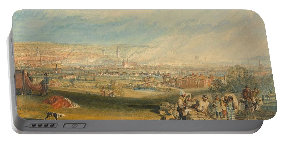 1816 Portable Battery Charger featuring the painting Leeds by JMW Turner
