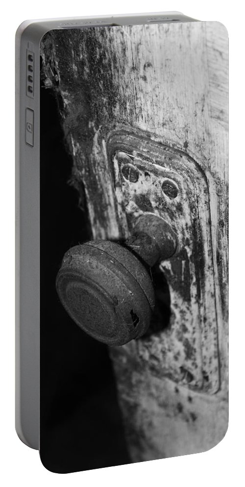 Door Portable Battery Charger featuring the photograph Left Open by The Artist Project