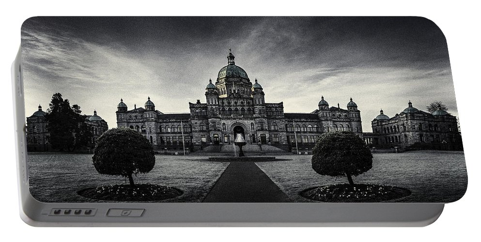 Architecture Portable Battery Charger featuring the photograph Legislature Building British Columbia Victoria by Peter v Quenter