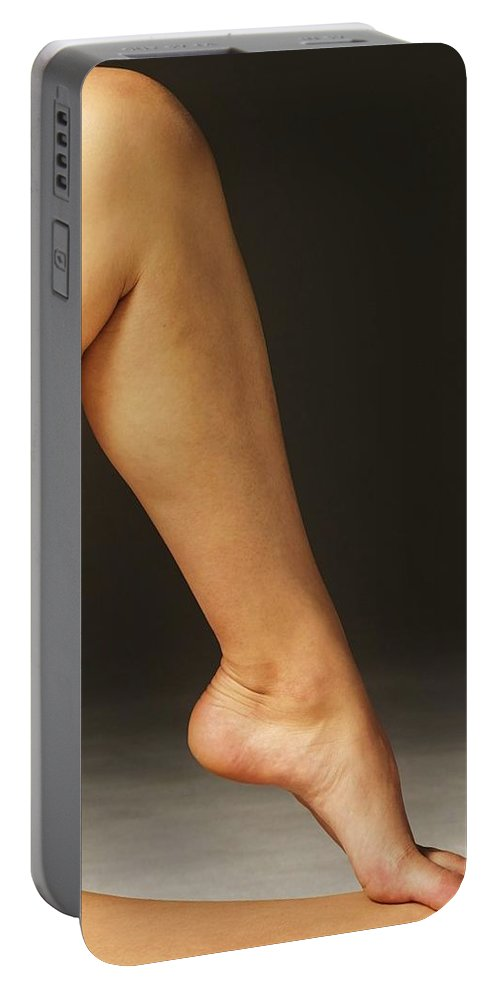 Oil Portable Battery Charger featuring the photograph Legs by Snowflake Obsidian
