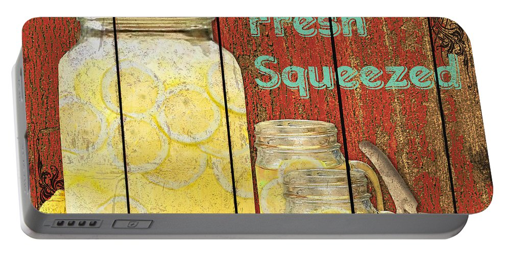 Digital Art Portable Battery Charger featuring the mixed media Lemonade by Jean PLout