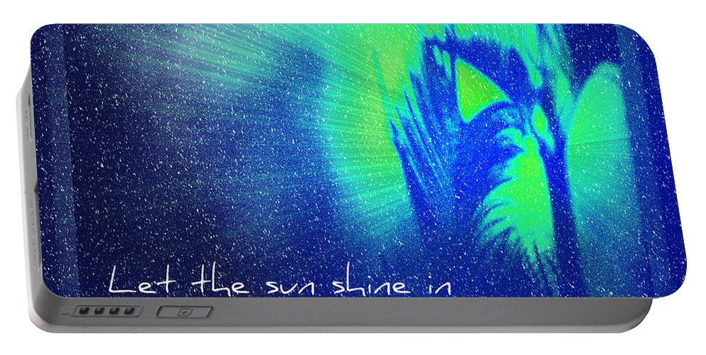 Abstract Portable Battery Charger featuring the photograph Let The Sun Shine In by Carolyn Marshall
