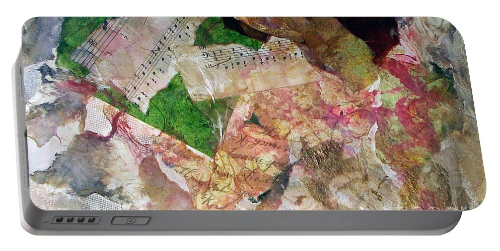 Water Color Collage Portable Battery Charger featuring the painting Let The Two Of Us Be One by Yael VanGruber