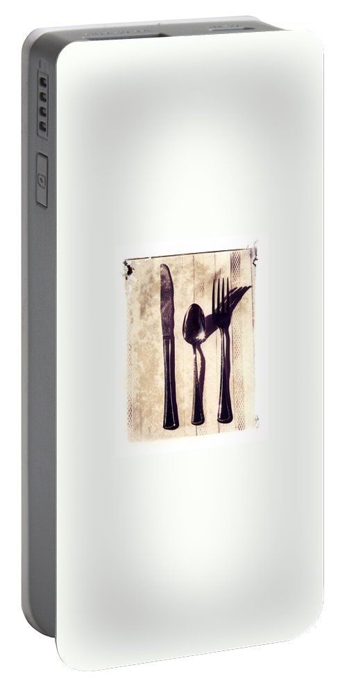Forks Portable Battery Charger featuring the photograph Lets Eat by Jane Linders
