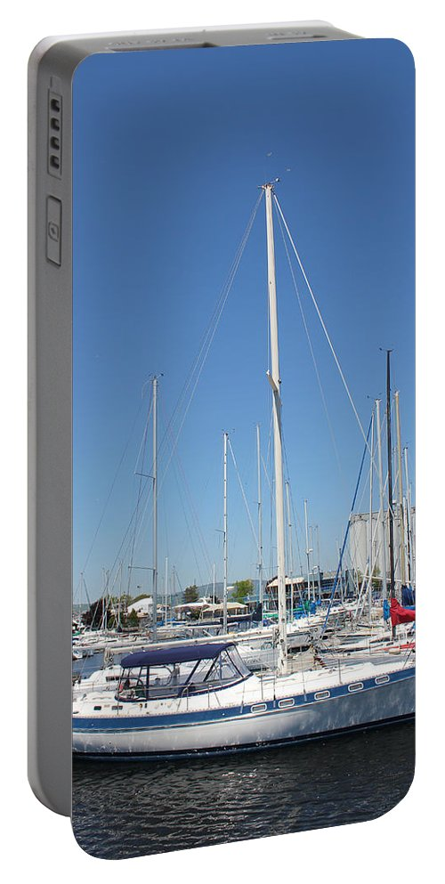 Sailing Portable Battery Charger featuring the photograph Sailboat Series 02 by Carlos Diaz