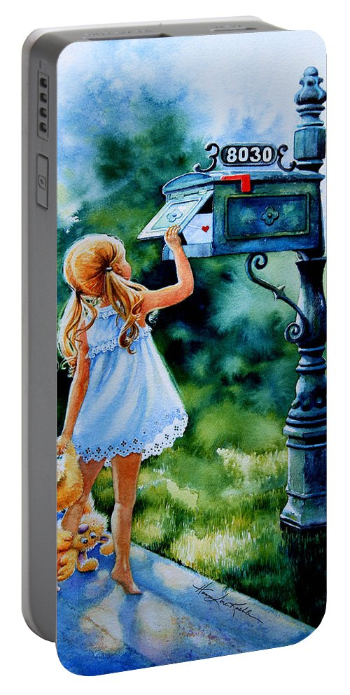 Letter For Nanna Portable Battery Charger featuring the painting Letter For Nanna by Hanne Lore Koehler