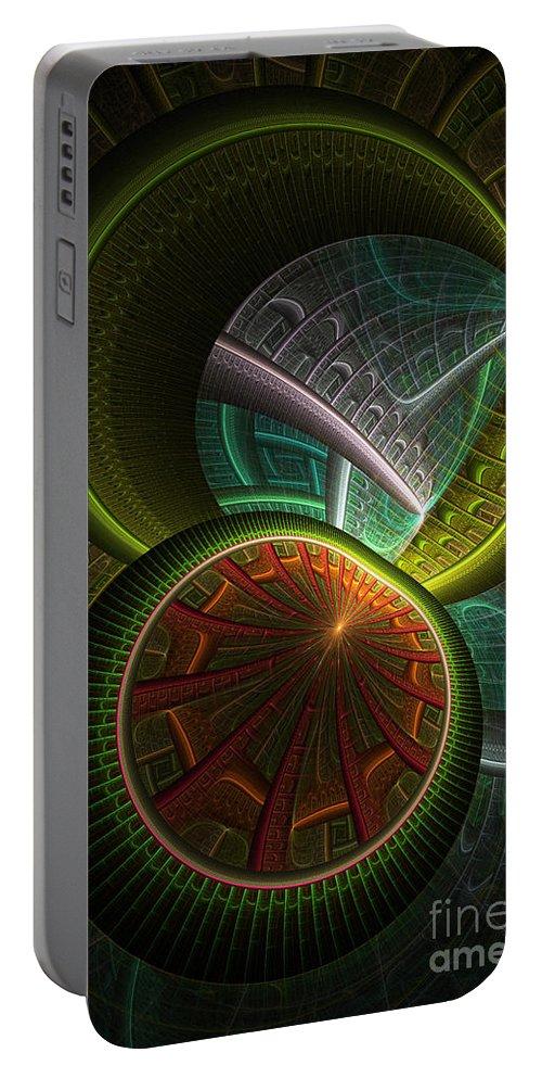 Digital Portable Battery Charger featuring the digital art Levels 113 by Deborah Benoit