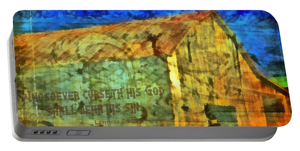 Jesus Portable Battery Charger featuring the digital art Leviticus 24 15 by Michelle Greene Wheeler