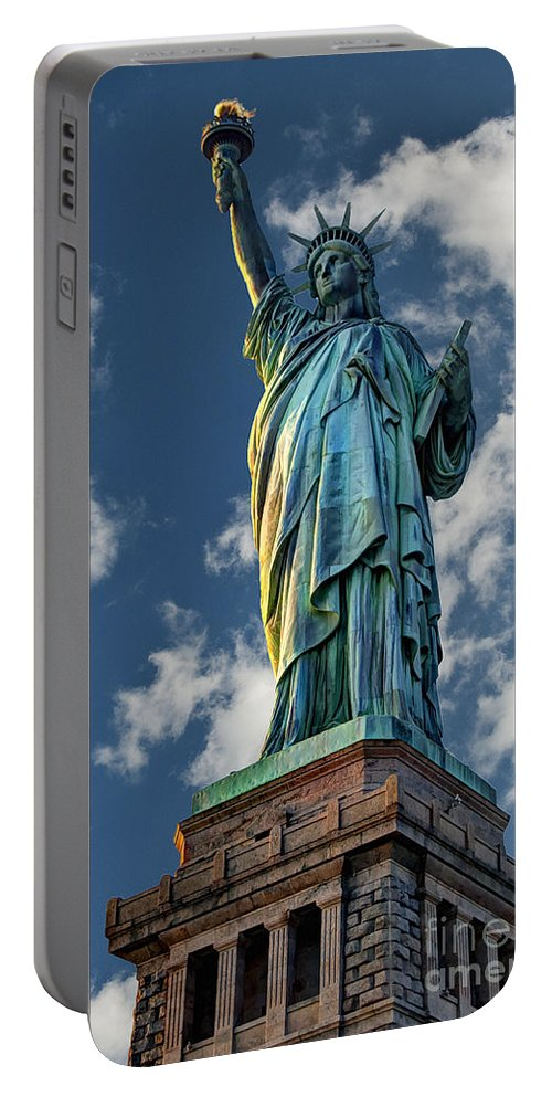 Statue Of Liberty Portable Battery Charger featuring the photograph Liberty by Steve Purnell