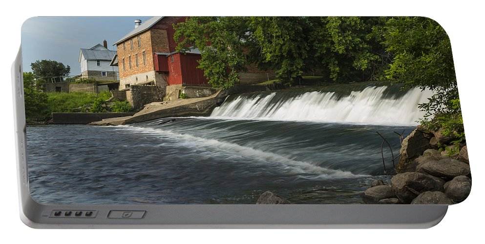 Grist Portable Battery Charger featuring the photograph Lidtke Mill 1 A by John Brueske