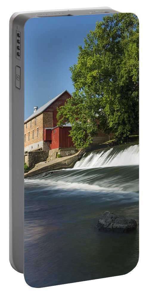 Grist Portable Battery Charger featuring the photograph Lidtke Mill 3 by John Brueske