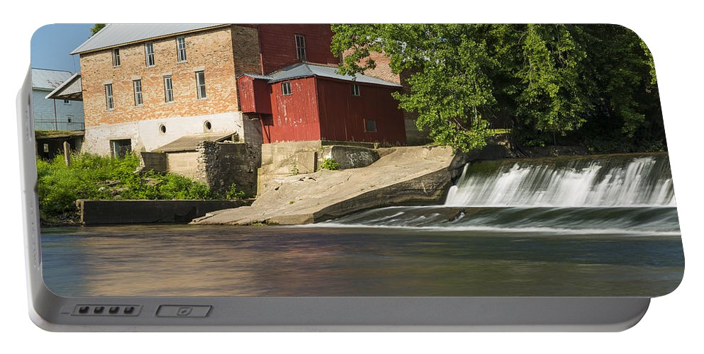 Grist Portable Battery Charger featuring the photograph Lidtke Mill 5 by John Brueske