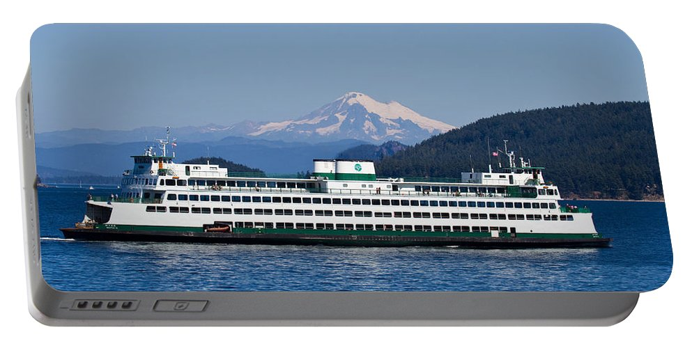 Ferry Boats Portable Battery Charger featuring the photograph Life Around The San Juan Islands - Washington by Marie Jamieson