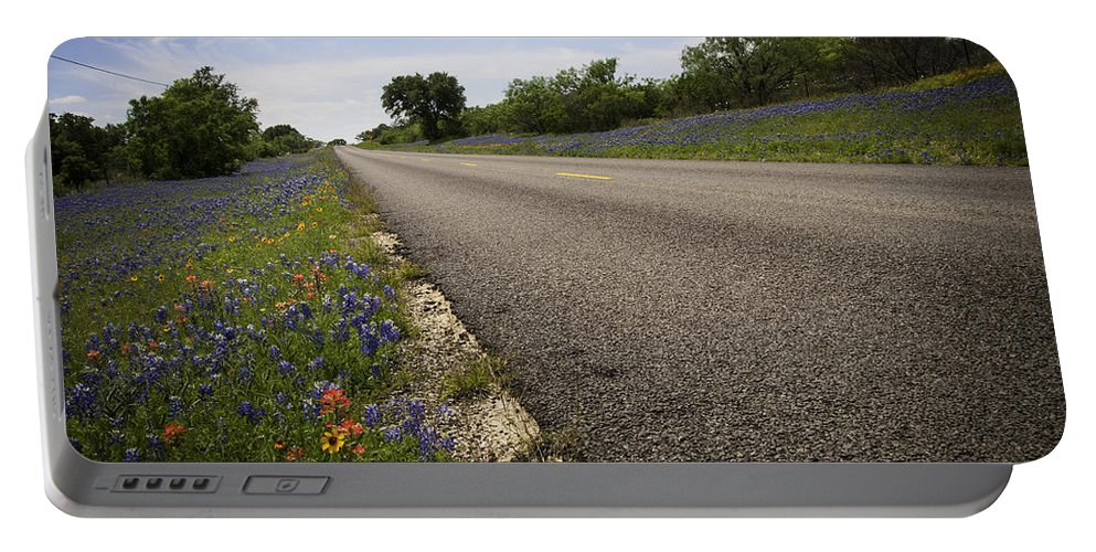 Spring Portable Battery Charger featuring the photograph Life Is A Highway by Lynn Bauer