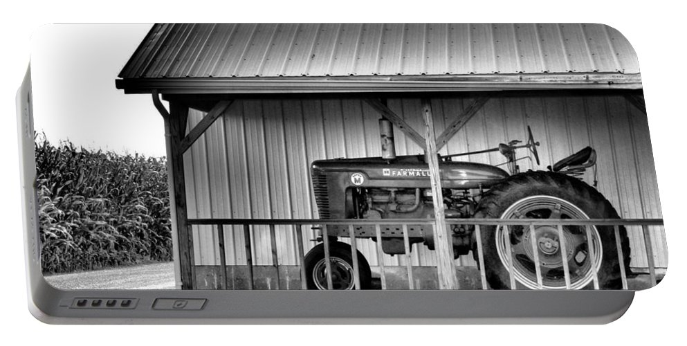 Tractor Portable Battery Charger featuring the photograph Life On The Farm by Dan Sproul