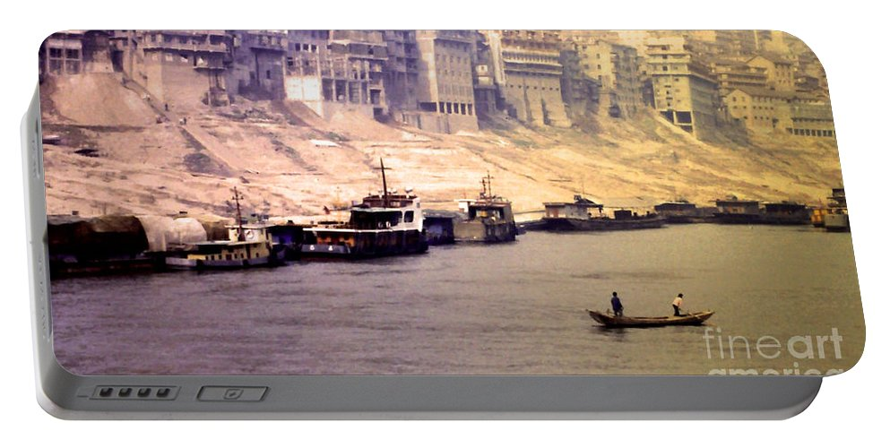 Yangtze River Portable Battery Charger featuring the photograph Life On The Yangte by Lydia Holly