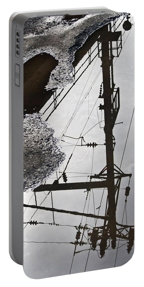 Puddles Portable Battery Charger featuring the photograph Life Through Puddles by Kathleen Odenthal
