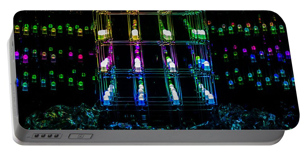 Diode Portable Battery Charger featuring the photograph Light Emitting Diodes by Chad Rowe