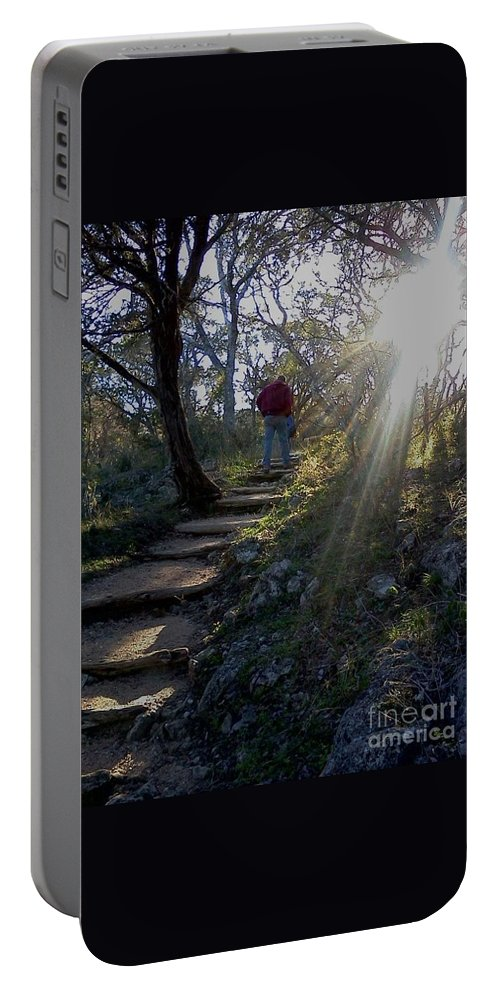 Light Portable Battery Charger featuring the photograph Light For The Path by Lisa DCS Quimby