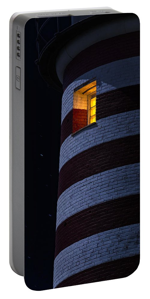 Lighthouse Portable Battery Charger featuring the photograph Light From Within by Marty Saccone