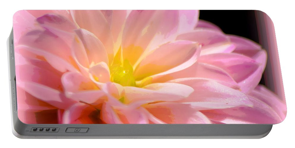 Light Pink Dahlia Portable Battery Charger featuring the photograph Light Pink Dahlia 1 by Sheri McLeroy