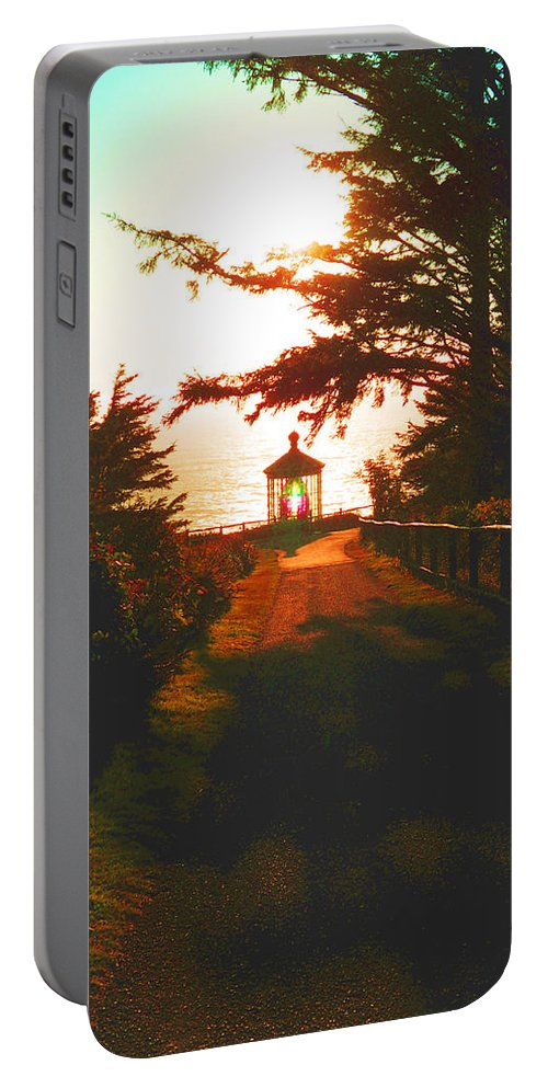 Dusk Portable Battery Charger featuring the photograph Lighthouse At Dusk by James Barnes