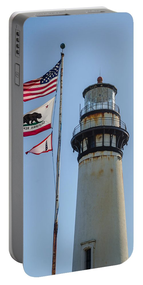 California Portable Battery Charger featuring the photograph Lighthouse by David Hart