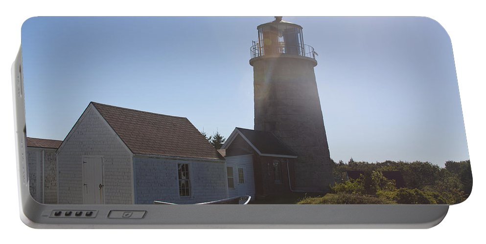 Lighthouse Portable Battery Charger featuring the photograph Lighthouse In The Sun by Jean Macaluso