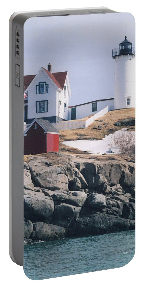 Lighthouse Portable Battery Charger featuring the photograph Lighthouse by Jeffery L Bowers