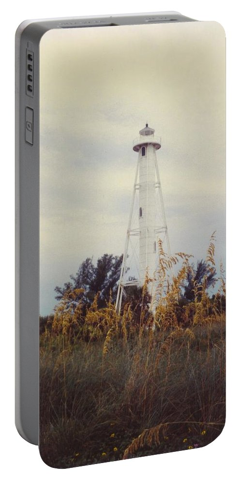 Wild Oats And Lighthouse Portable Battery Charger featuring the photograph Lighthouse Landscape by Robert Floyd