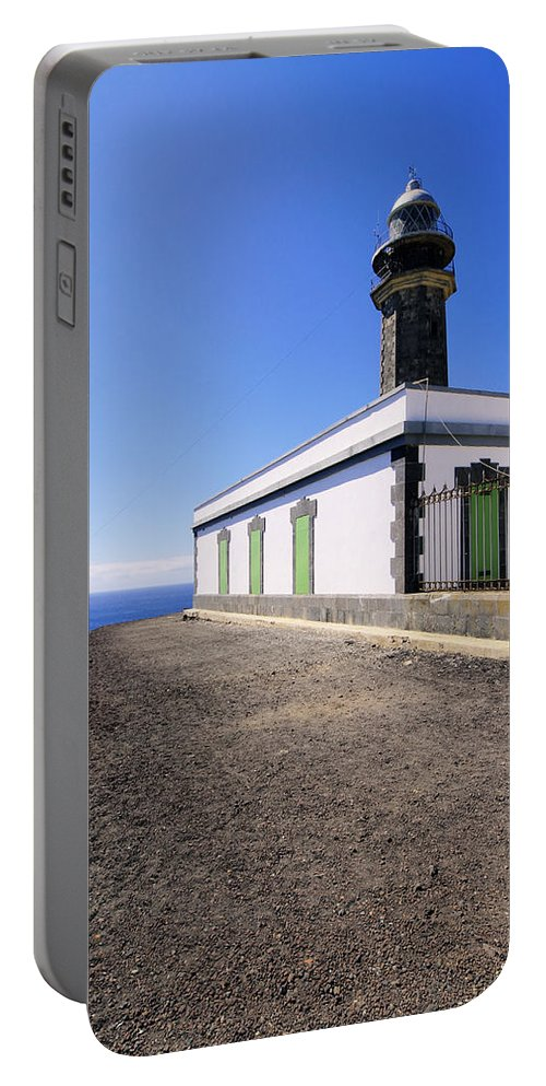 Lighthouse Portable Battery Charger featuring the photograph Lighthouse On Hierro by Karol Kozlowski