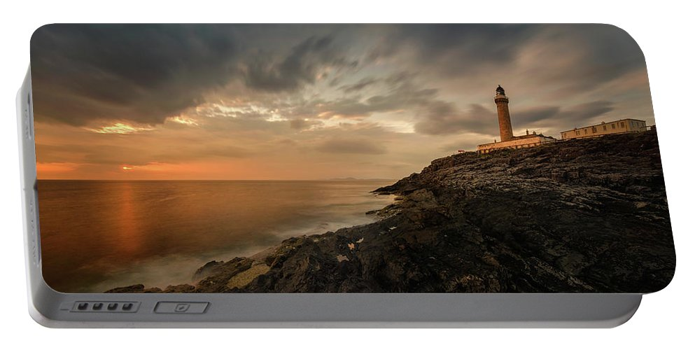 Photography Portable Battery Charger featuring the photograph Lighthouse On The Coast, Ardnamurchan by Panoramic Images