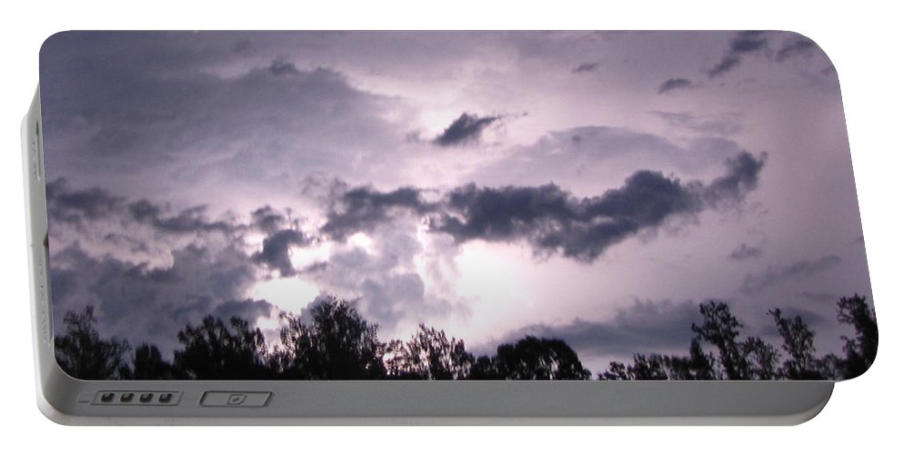 Lighting Portable Battery Charger featuring the photograph Lightning by Sarah Houser