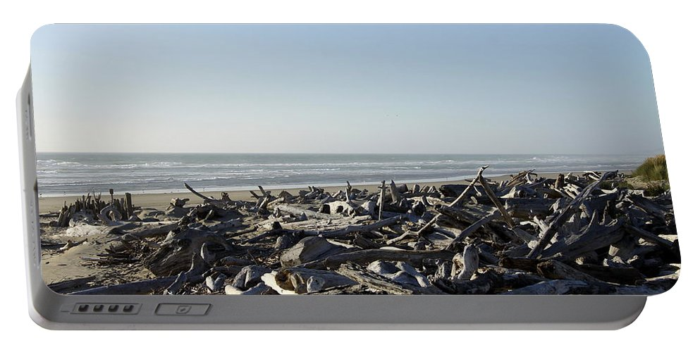 Bullards Beach State Park Portable Battery Charger featuring the photograph A Trees Boneyard by Christiane Schulze Art And Photography