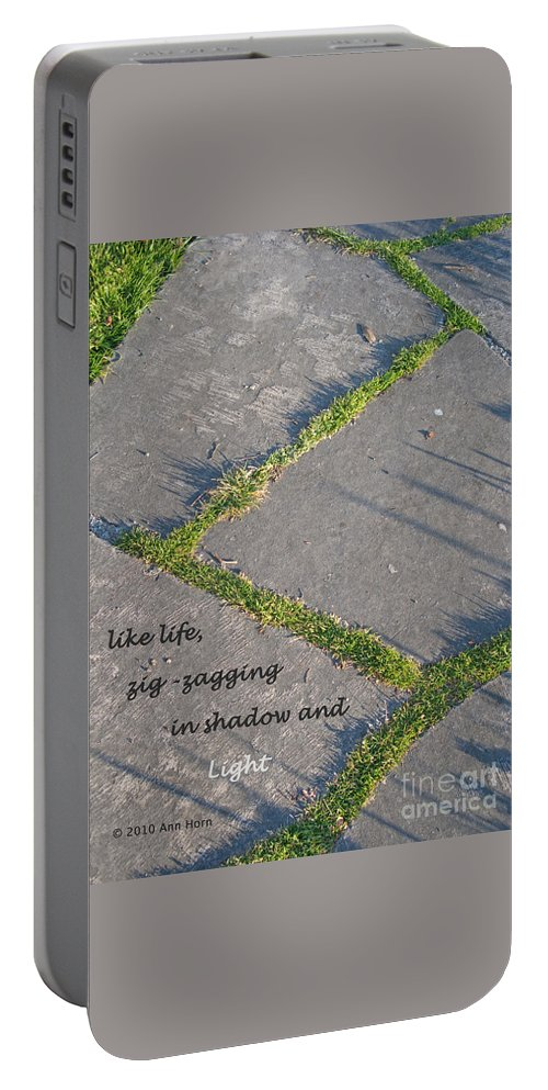Path Portable Battery Charger featuring the photograph Like Life by Ann Horn