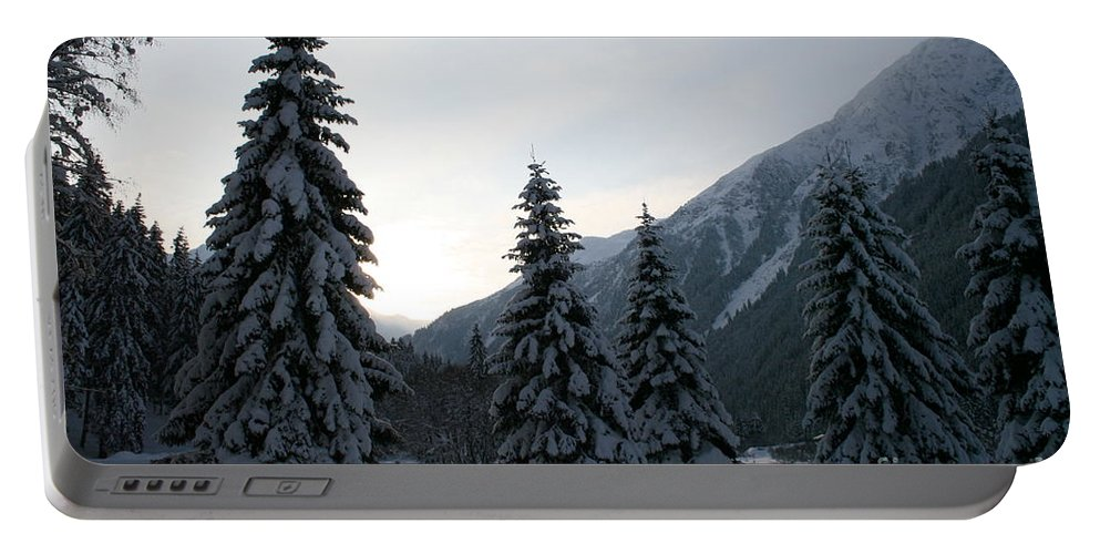 Snow Portable Battery Charger featuring the photograph Like Powdered Sugar by Christiane Schulze Art And Photography