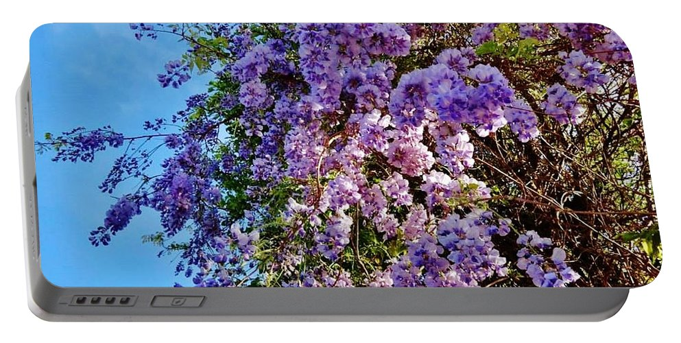 Landscape Portable Battery Charger featuring the photograph Lilac Tree by Lois  Rivera