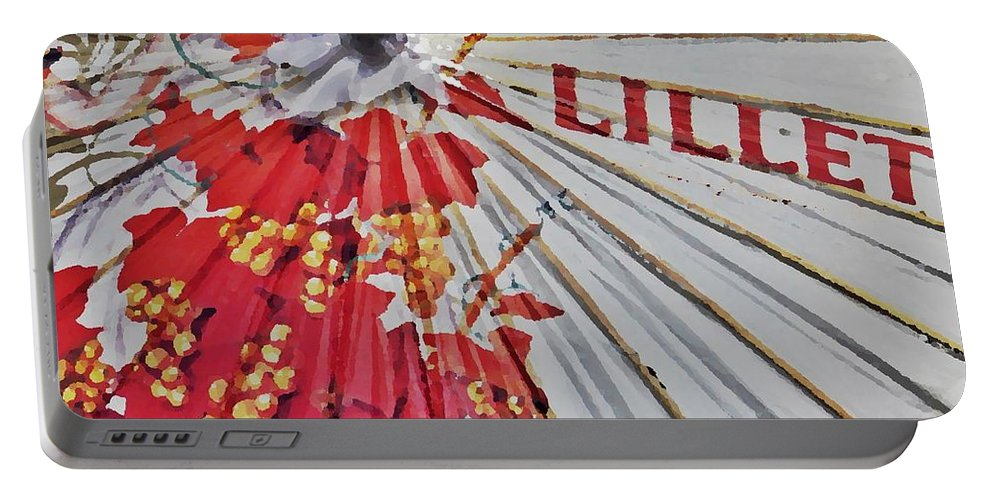 Parasol Portable Battery Charger featuring the photograph Lillet Parasol by Lilliana Mendez
