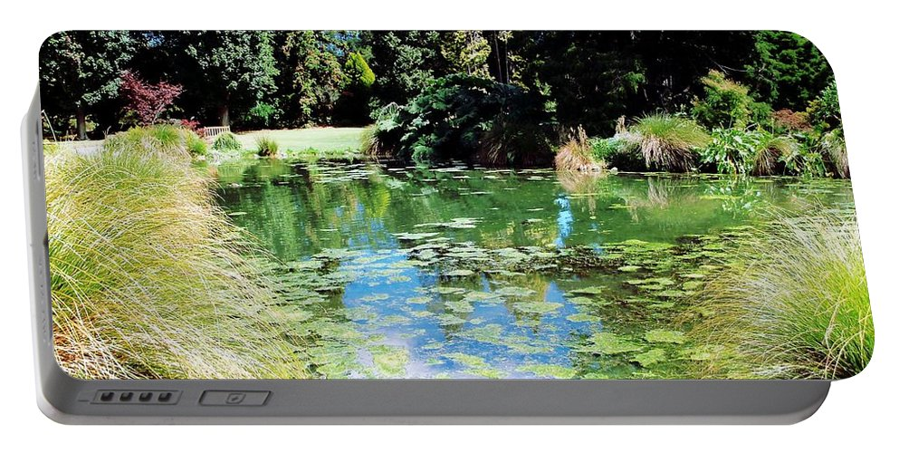 Lake Portable Battery Charger featuring the photograph Lily Pond by Nancy Pauling