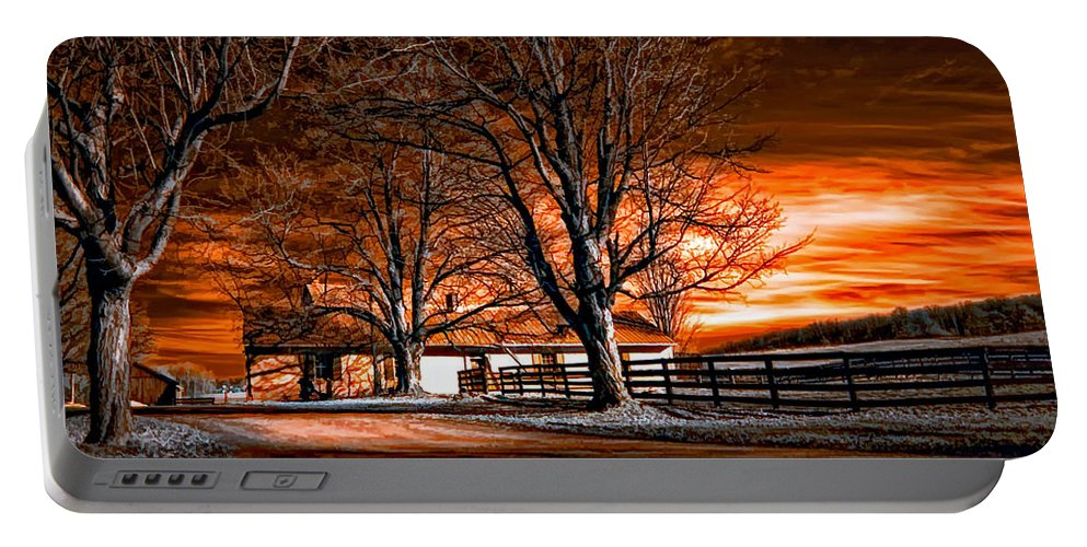 Farm Portable Battery Charger featuring the photograph Limbo by Steve Harrington