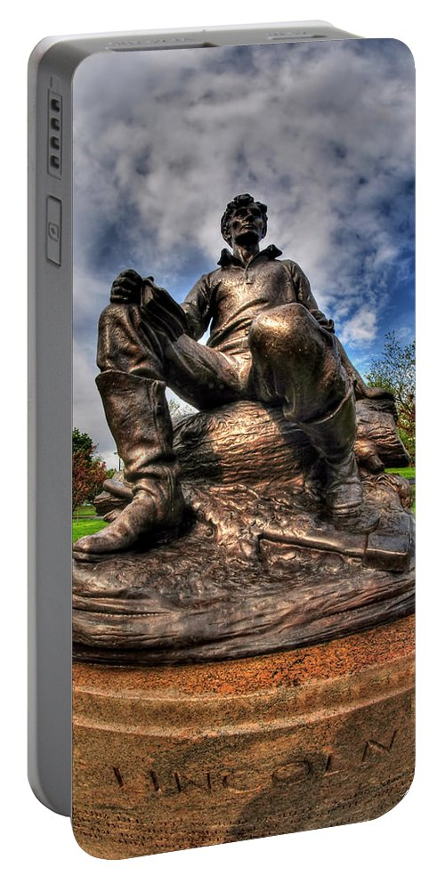 Hoyt Lake Portable Battery Charger featuring the photograph Lincoln At Delaware Park by Michael Frank Jr