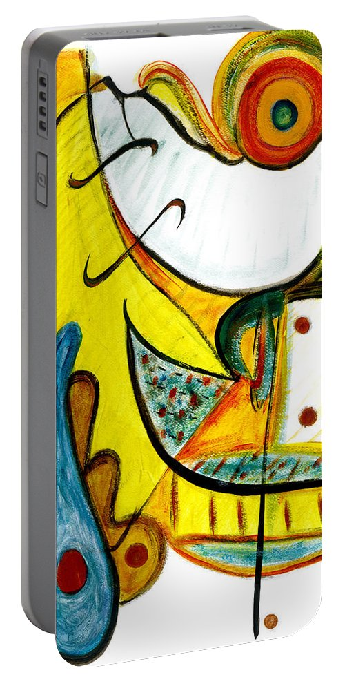 Abstract Art Portable Battery Charger featuring the painting Linda Paloma by Stephen Lucas
