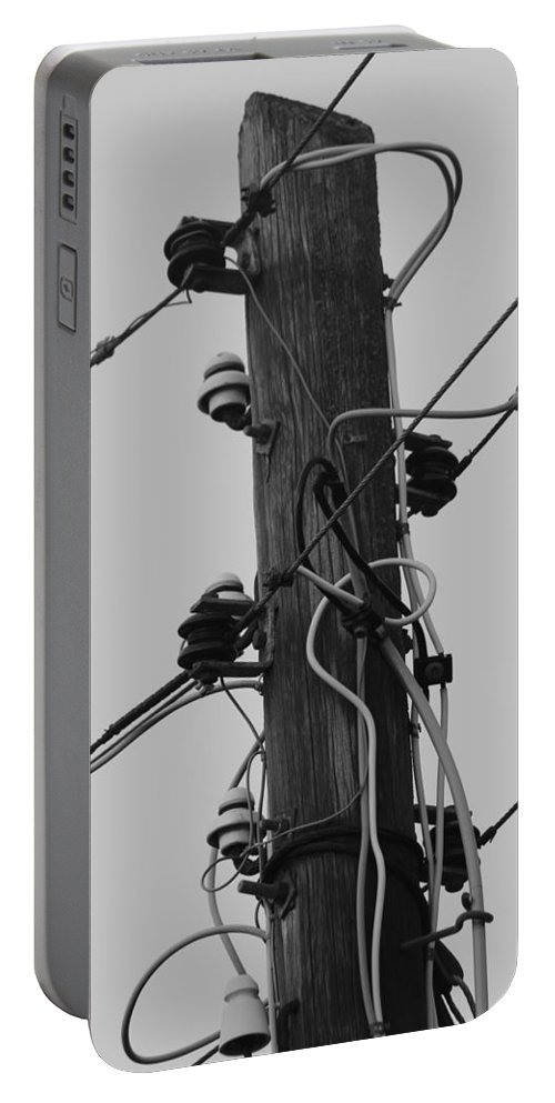 Telegraph Pole Portable Battery Charger featuring the photograph Lines Of Communication by Robert Phelan