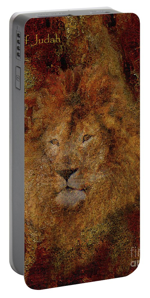 Lion Art Portable Battery Charger featuring the photograph Lion Of Judah by Constance Woods