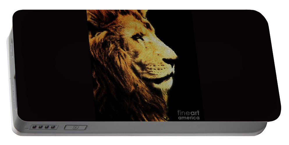 Animals Portable Battery Charger featuring the photograph Lion Paint by Ben Yassa
